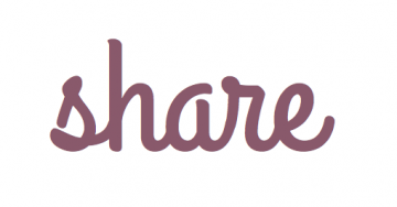 """The word """"share"""" in script handwriting"""